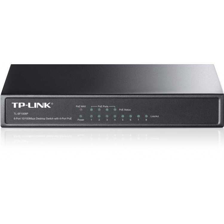 SWITCH TP-LINK 8 PUERTOS 10/100/1000 4 POE - TL-SG1008P   Home