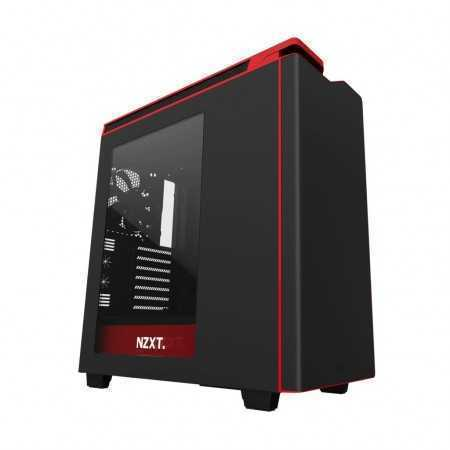 CASE GAMER NZXT H440 NEGRO-ROJO CA-H442W-M1