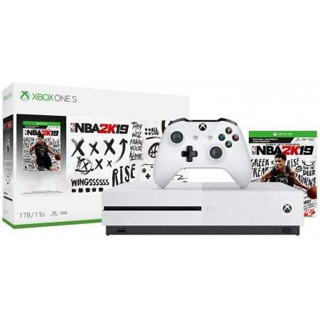 Xbox One S 1TB NBA 2K19 Console and Game Bundle (234-00575)