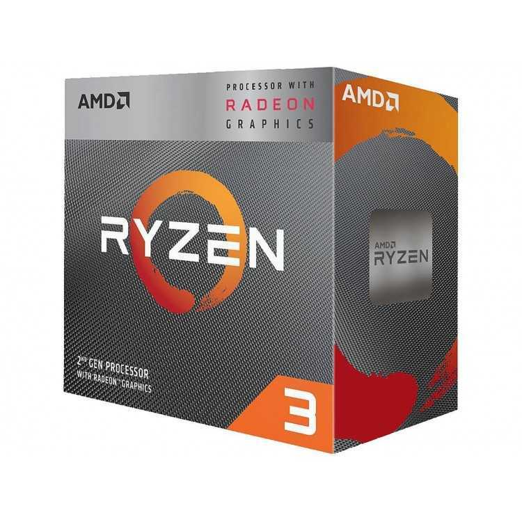 AMD RYZEN 3 3200G 4-Core 3.6 GHz (4.0 GHz Max Boost) Socket AM4 65W YD3200C5FHBOX   CPU / Procesadores