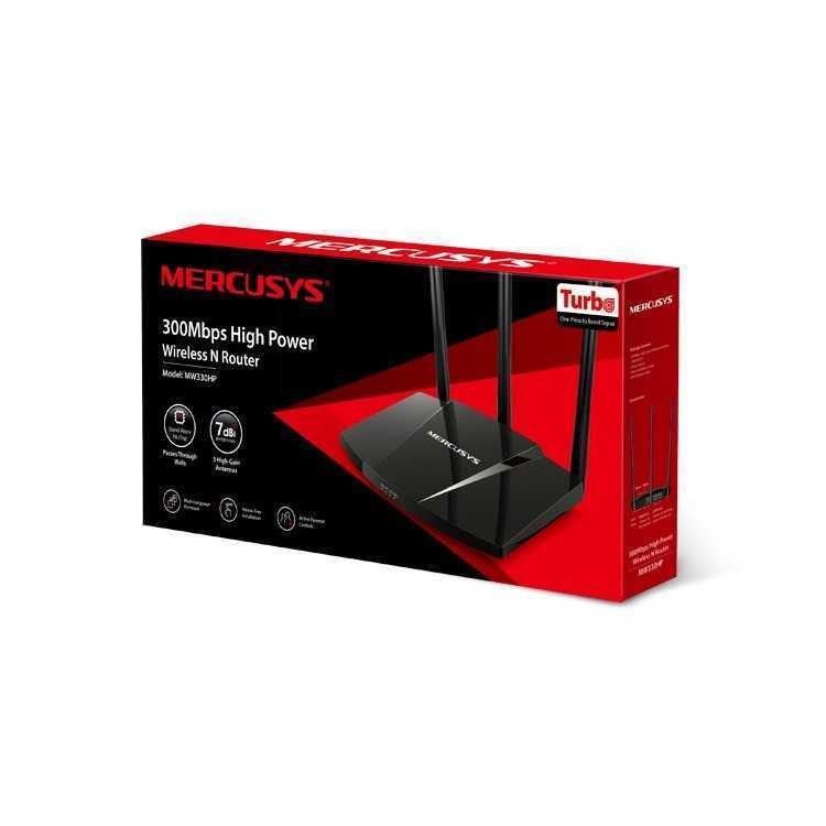 ROUTER MERCUSYS TP LINK 300MBPS HIGH POWER MW330HP   Enrutadores