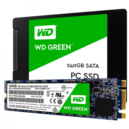 HD INTERNO 240GB 2.5 SOLIDO M2 WD WDS240G1G0B GREEN
