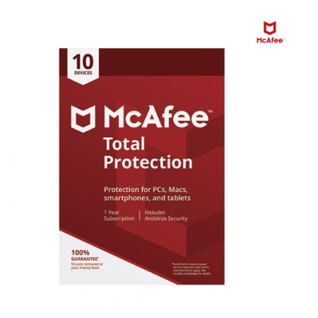 McAfee Total Protection - 10 Devices / 1 Year