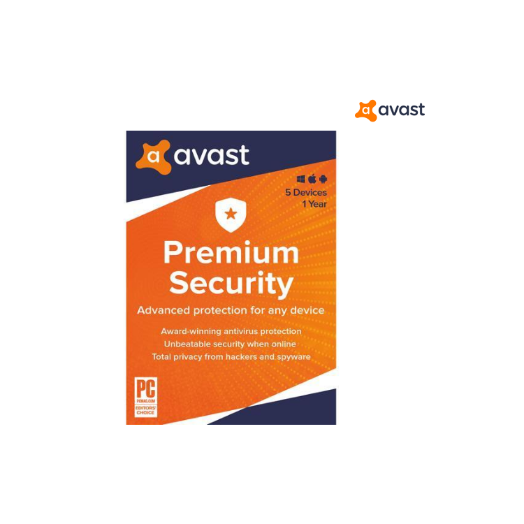Avast Premium 2020, 5 Devices 1 Year [Key Card]   Home