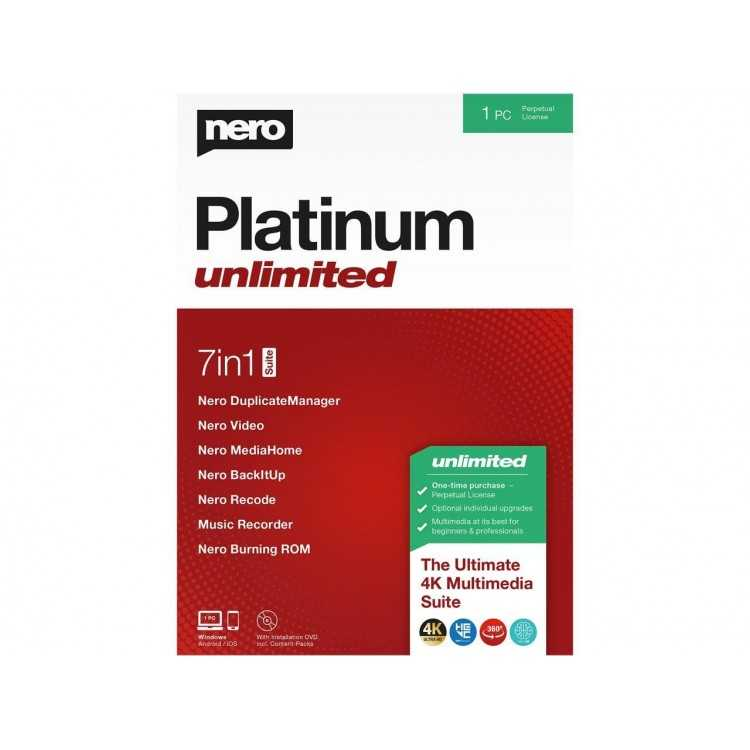 Nero Platinum Unlimited   Home