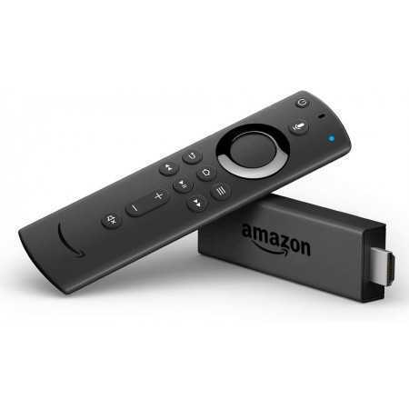 FIRE TV STICK AMAZON AMZ-B00ZV9RDKK WITH ALEXA VOICE REMOTE BLACK