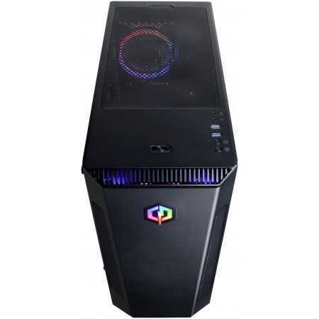 CyberPowerPC - Gaming Desktop - AMD Ryzen 5 3600 - 8GB Memory - AMD Radeon RX 580 - 2TB HDD + 240GB SSD - Black