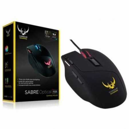 MOUSE Corsair Sabre RGB Gaming Mouse, Light Weight, 10000 DPI, Optical, Multi Color
