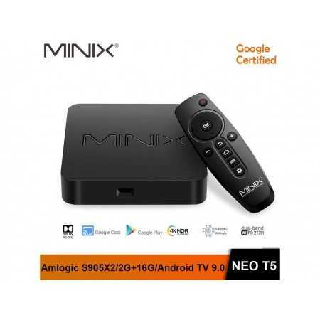 MINIX NEO T5 google certificated TV BOX Amlogic S905X2/ 2G 16G /Chromecast / 4K Ultra HD /Dolby Audio/