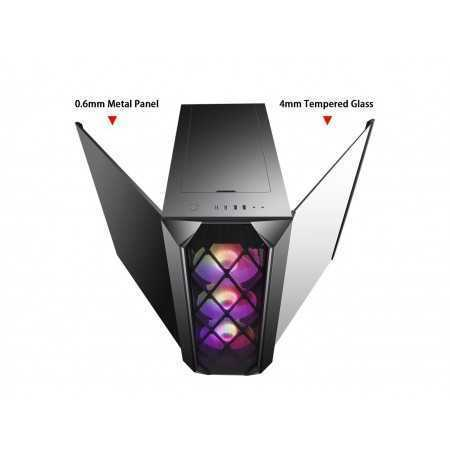 Segotep ARGUS ATX Black Mid Tower PC Gaming Computer Case USB 3.0 Port and Type-C port with Tempered Glass & RGB