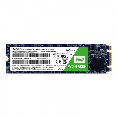 240GB 2.5 SOLIDO M2 WD WDS240G1G0B GREEN