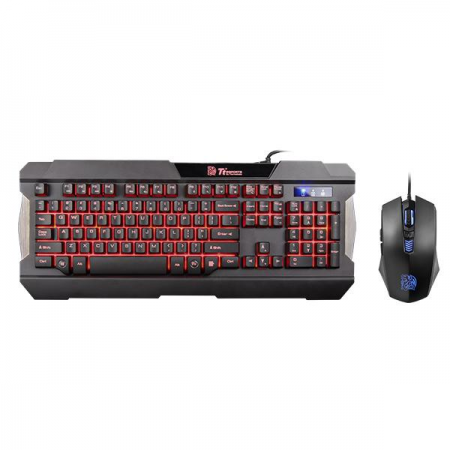 TECLADO Y MOUSE THERMALTAKE COMBO SPANISH KB-CCM-PLBLSP-01